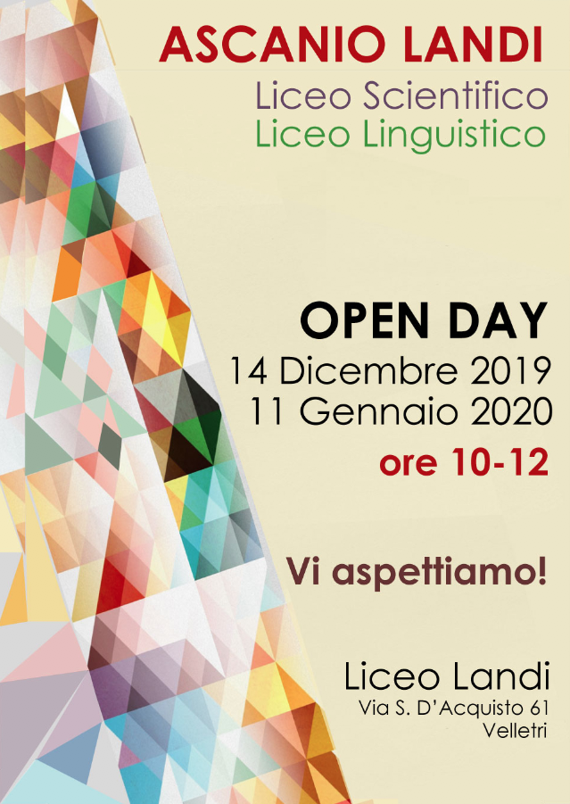 20192020 OPEN DAY 35X50